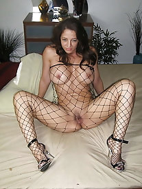 Lewd mademoiselle with shaved vagina